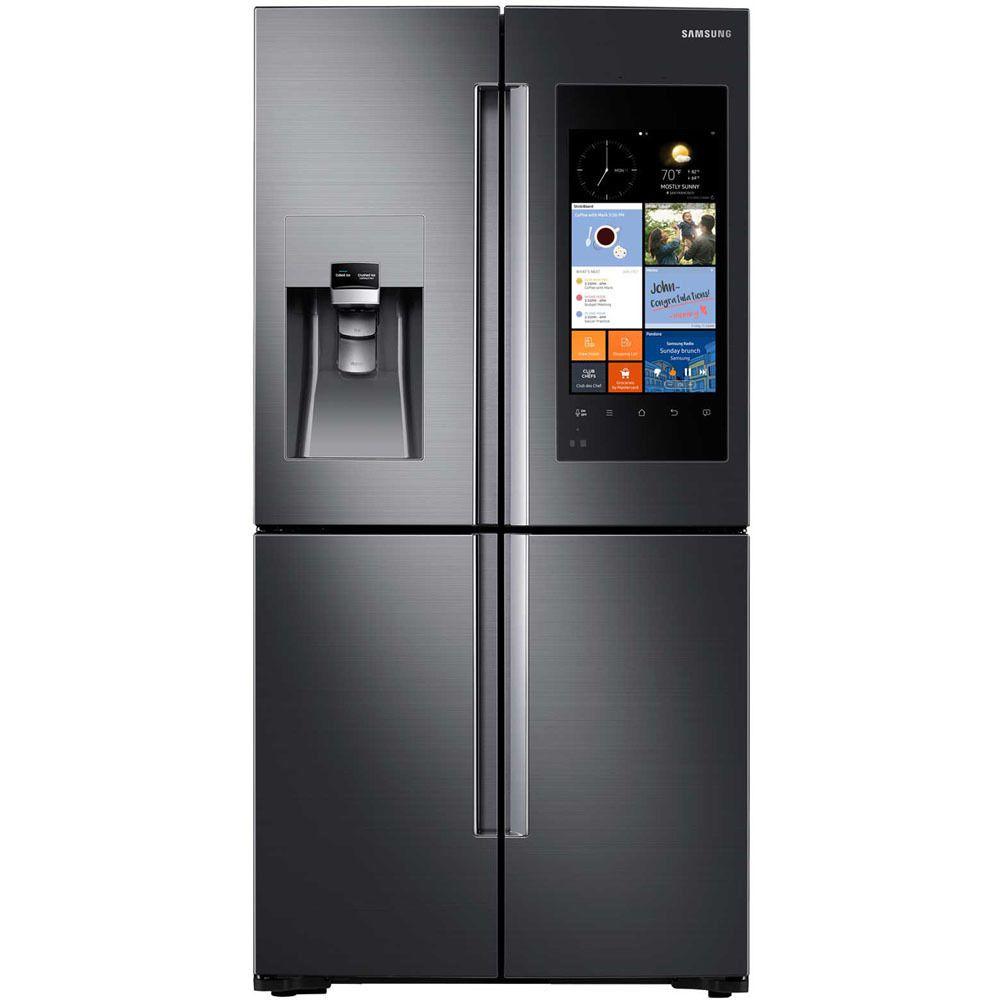 Samsung Black Stainless Steel 22-cubic-foot 4-door Counter Depth ...