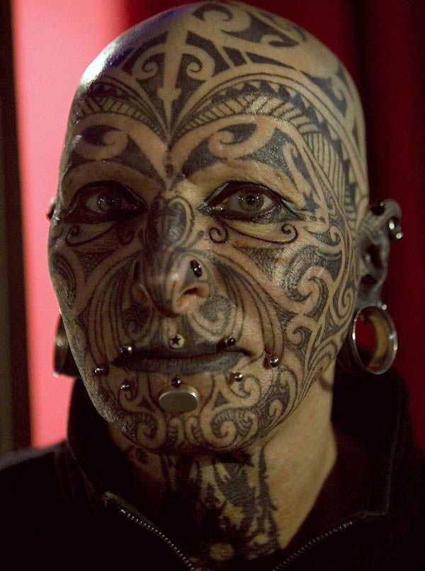 a36e25d86 20 Awesome Face Tattoo Designs | face tattoo | Facial tattoos, Bad ...