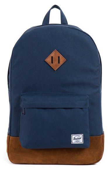 600436df8d Herschel+Supply+Co.+ Heritage +Nylon+ +Suede+Backpack+available+at+  ...