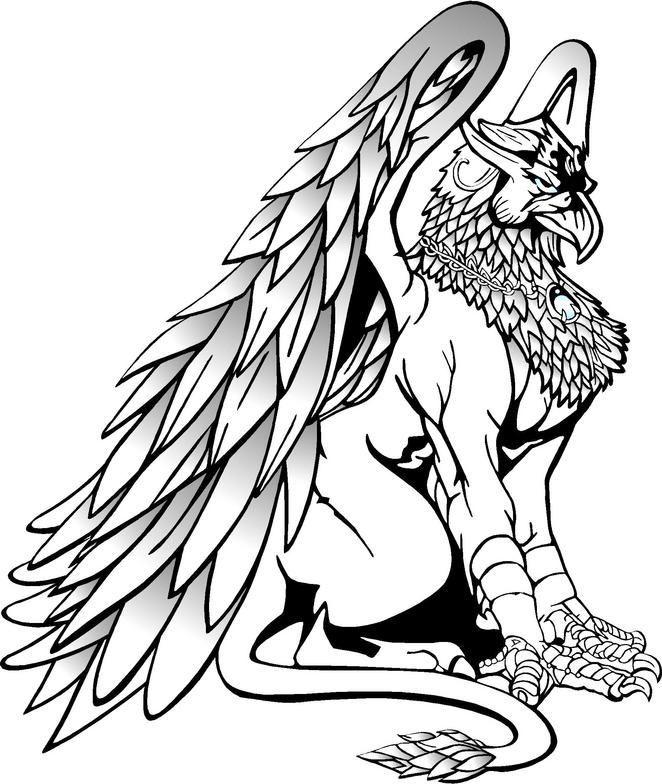Pin De Diego Em Grifos Com Imagens Desenho De Lobos Desenho