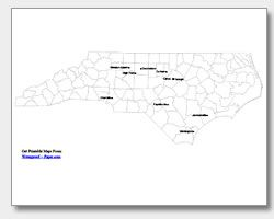 Image Result For North Carolina Map With Cities And Counties