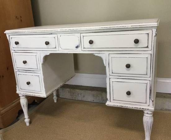 Antique Desk - Refurbished - Painted furniture