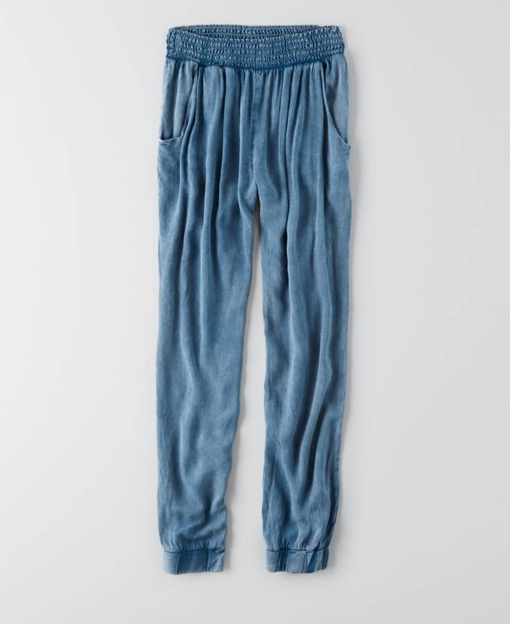 AEO Don't Ask Why Soft Pants, Women's, Blue Daylight