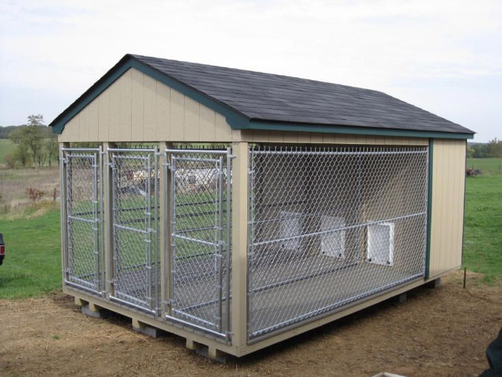 Best dog kennel designs dog kennel pets pinterest for Building dog kennels for breeding
