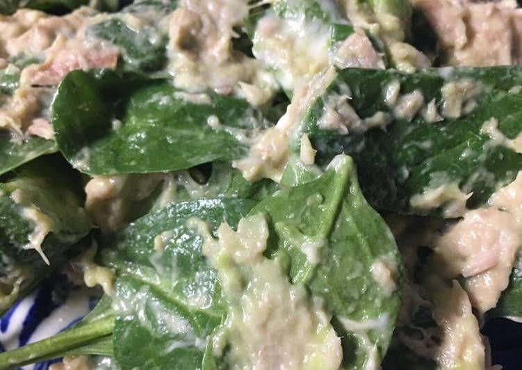 Recipe Delicious Keto Friendly Spinach Tuna Salad Resep