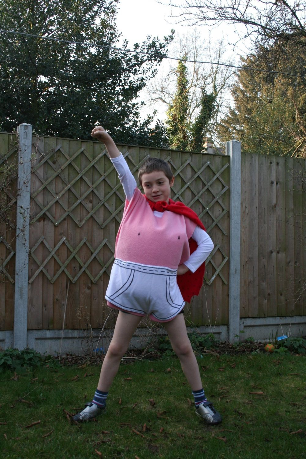 Captain Underpants for Book Day Parade at school.  We had fun making this! #captainunderpantscostume Captain Underpants for Book Day Parade at school.  We had fun making this! #captainunderpantscostume