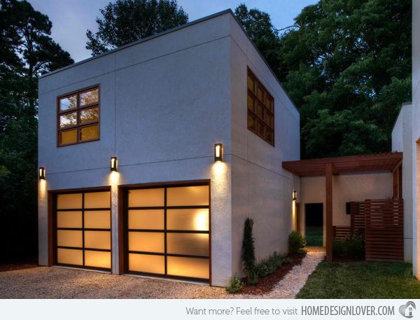 15 detached modern and contemporary garage design for Contemporary garage apartment plans