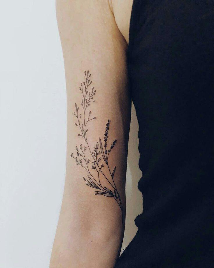 "Photo of Kit on Instagram: ""Wildflowers for Céire! ☺️💕#flowertattoo #daintytattoo"""