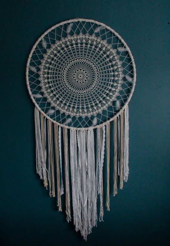 Giant Dreamcatcher Bohemian Wall Hanging By Thewovendreamfactory Rhpinterest: Large Dream Catcher For Bedroom At Home Improvement Advice
