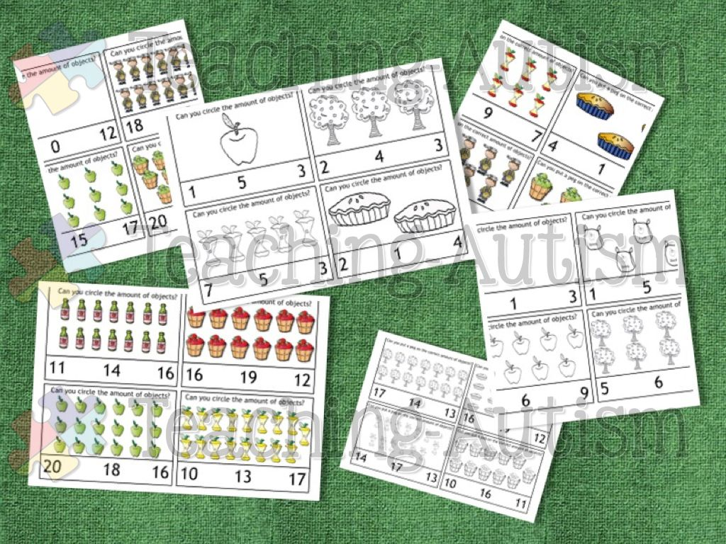 Johnny Appleseed Activities Counting Task Cards