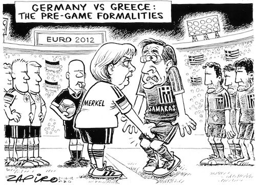 Germany Vs. Greece  The Pre-Game Formalities  #Euro2012 #germany #greece #tilasciovincere