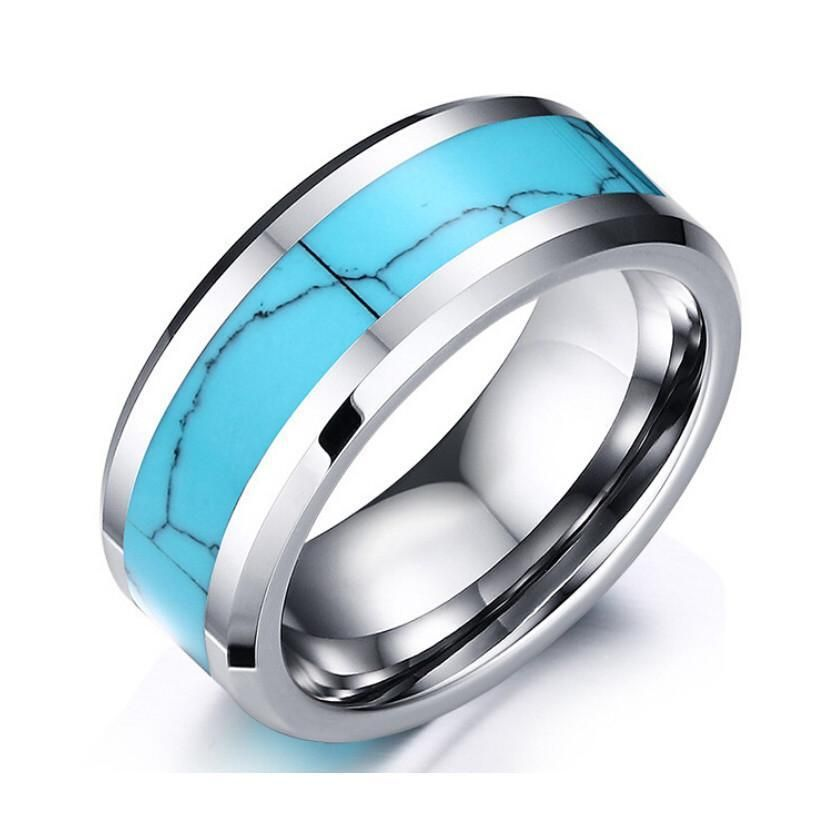 Carbide Turquoise Ring 8 Mm In 2020 Rings For Men Tungsten Mens Rings Tungsten Carbide Mens Rings