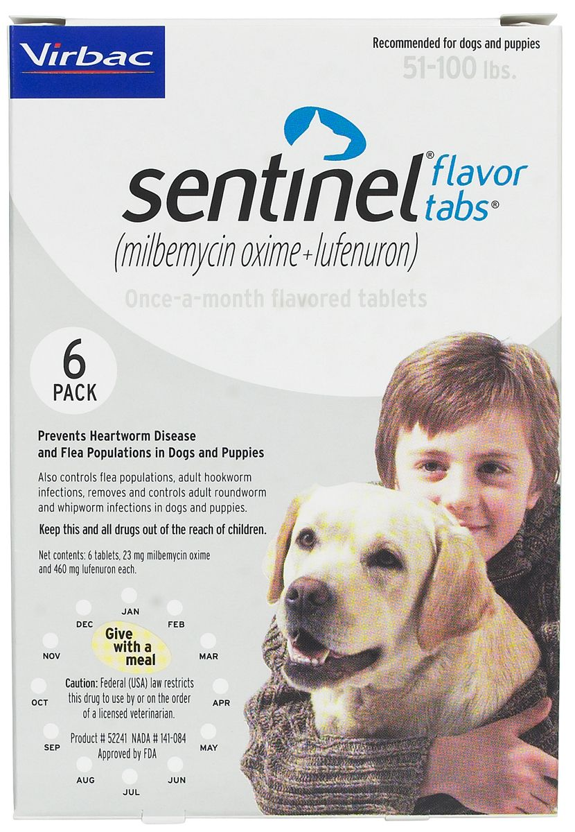 Sentinel For Dogs 51 100 Lbs 6 Ct In 2020 Dogs Puppies Cats Cucumbers Pet Meds