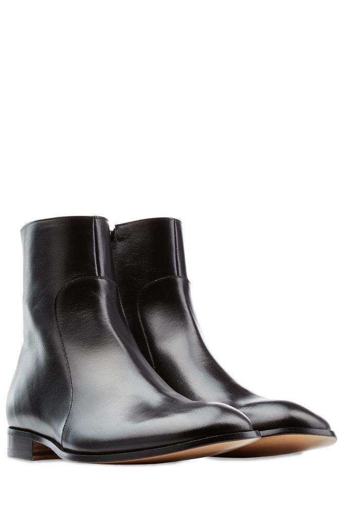 c7ae26d024c5  Maison  Margiela  Stiefeletten aus  Leder     Schwarz für  Herren - Können  casual, elegant oder sophisticated getragen werden  die schwarzen  Stiefeletten ...