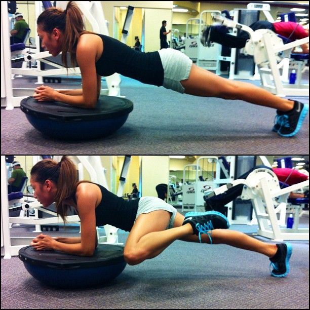 Plank Using Fit Ball And Bosu Ball: Fitness Motivation Inspiration Fitspo Crossfit Running