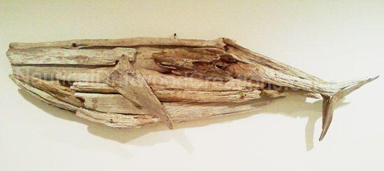 Hanging Driftwood Whale Sculpture 48 X 15 Driftwood