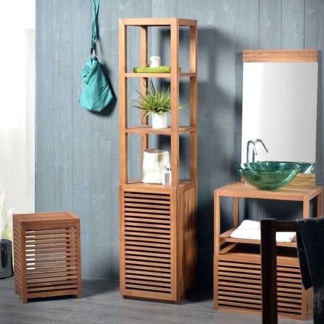 colonne salle de bains un meuble l gant et fonctionnel colonnes en bois salles de bain. Black Bedroom Furniture Sets. Home Design Ideas