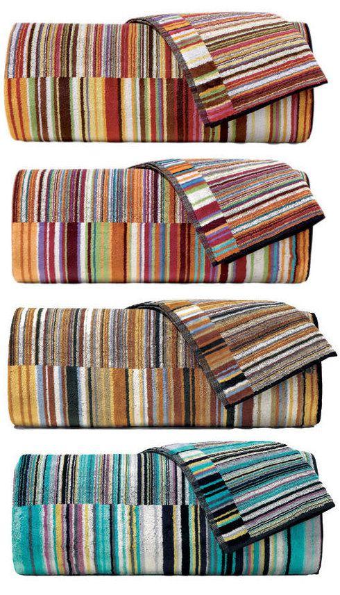 Missoni Jazz Towels & Robes. Missoni Striped Towels | J Brulee Home