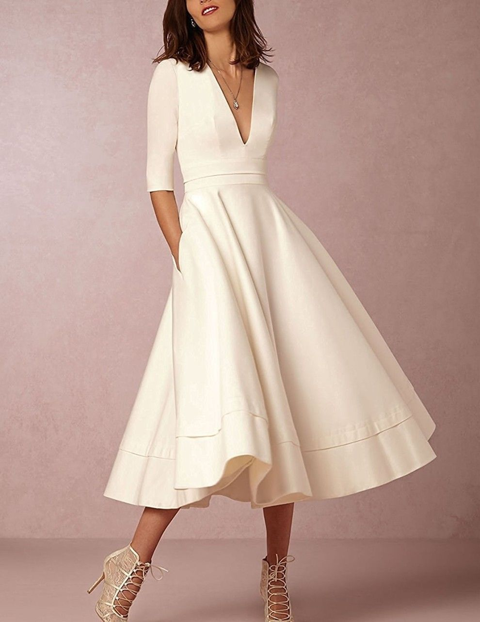 34 Stylish Dresses To Get You Through Spring And Into Summer Evening Dresses With Sleeves Fashion Day Dresses [ 1281 x 990 Pixel ]
