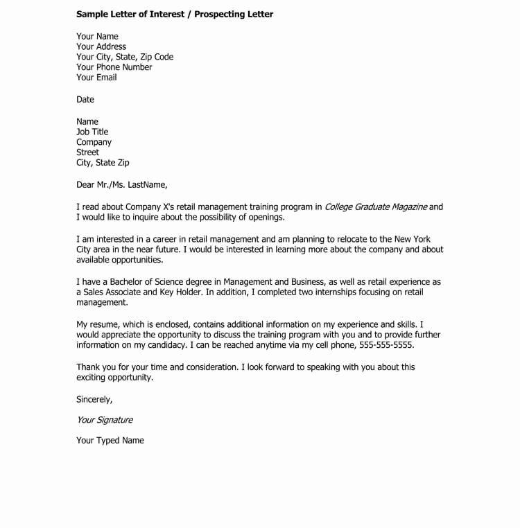 Example Of Letter Of Interest Elegant 38 Letter Of Interest Samples Examples Writing Gui Letter Example Letter Of Interest Sample Letter Of Interest Template