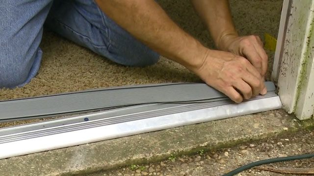 How To Replace An Entry Door Threshold Todays Homeowner Video