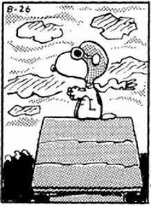 Snoopy in black & white! (201)
