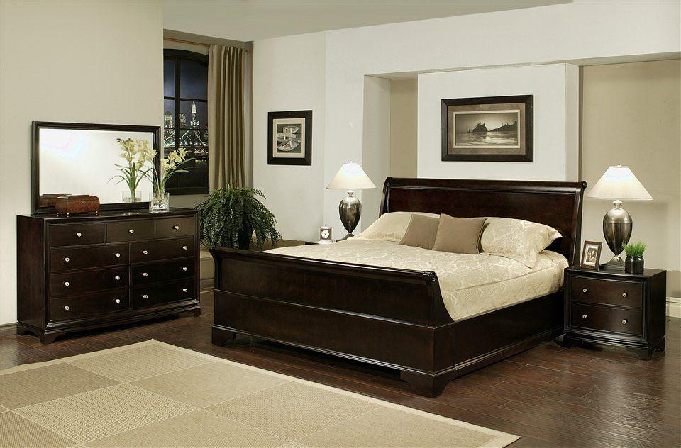 5 Pc Plaza Sleigh Bed Bedroom Set