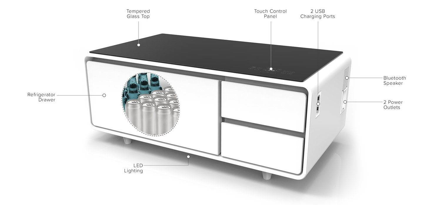 Product Of The Week A Hi Tech Coffee Table With Built In Refrigerator Built In Refrigerator Coffee Table Smart Furniture [ 697 x 1500 Pixel ]