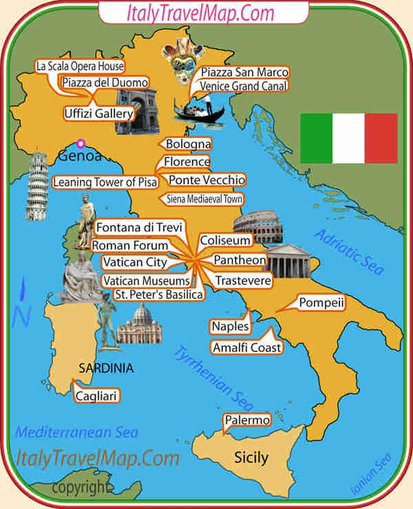 italy travel attractions maps Pinterest Italy and Tuscany