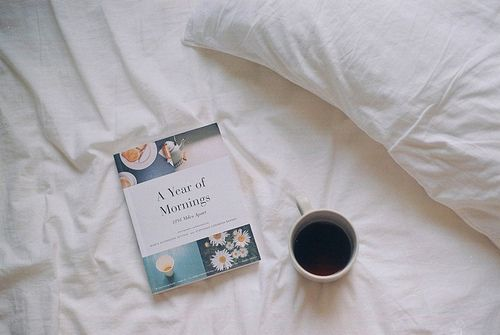 coffee & reading in bed