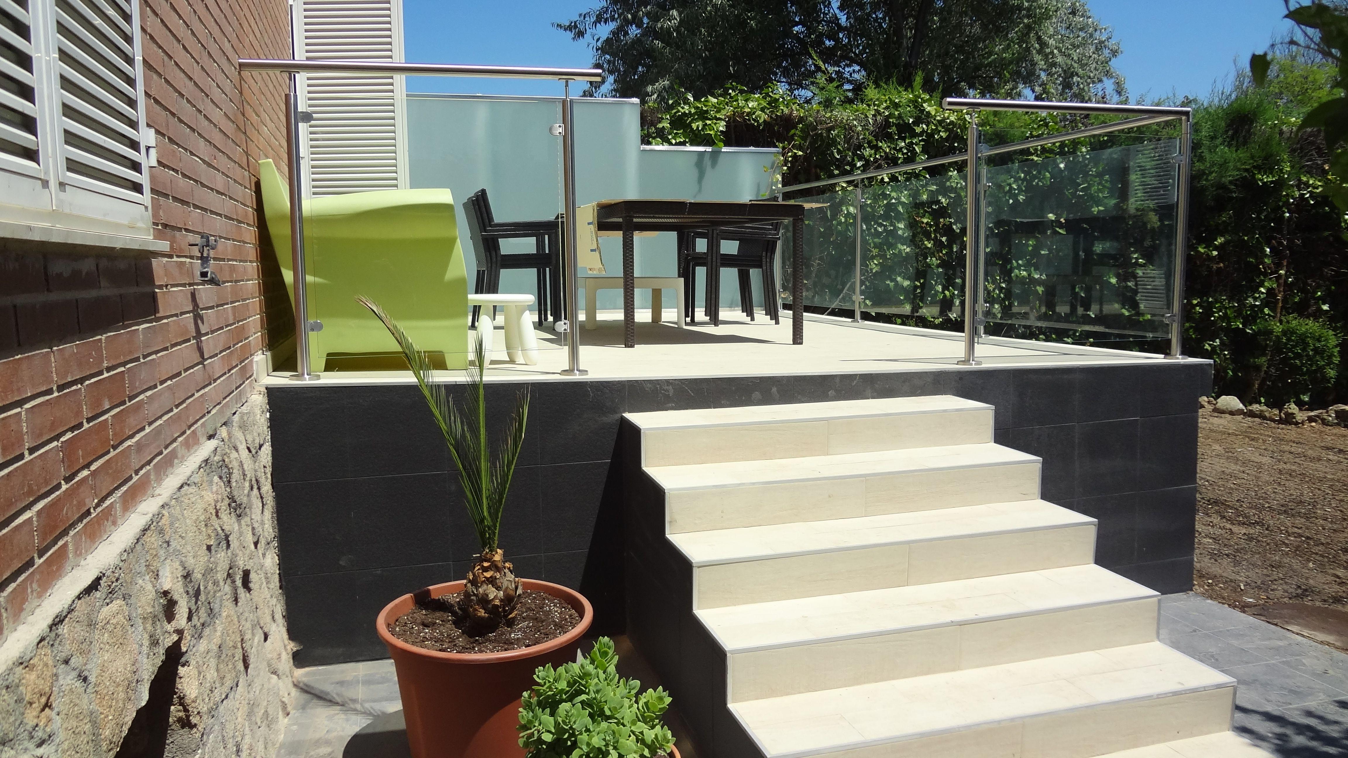 Ideas de casas de porche escalera terraza estilo - Porches de casas ...