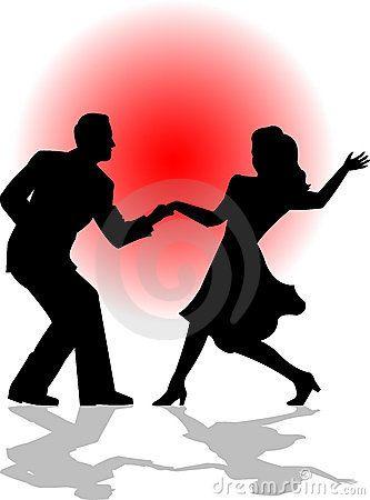 Swing Dance Couple Eps Dancing Couple Silhouette Dancing Clipart Dance Silhouette