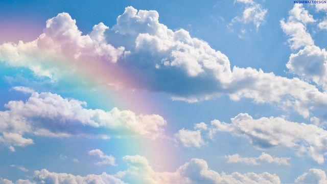 Rainbow Sky Wallpaper Hd Dekstop Rainbow Sky Clouds