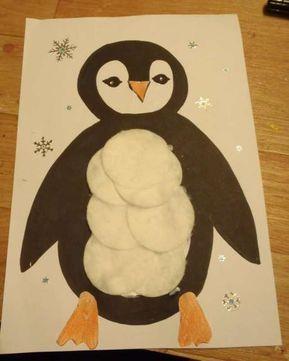 Collage pingouin (rapide) - Activité manuelle et bricolage pour enfant #activitemanuellenoelmaternelle