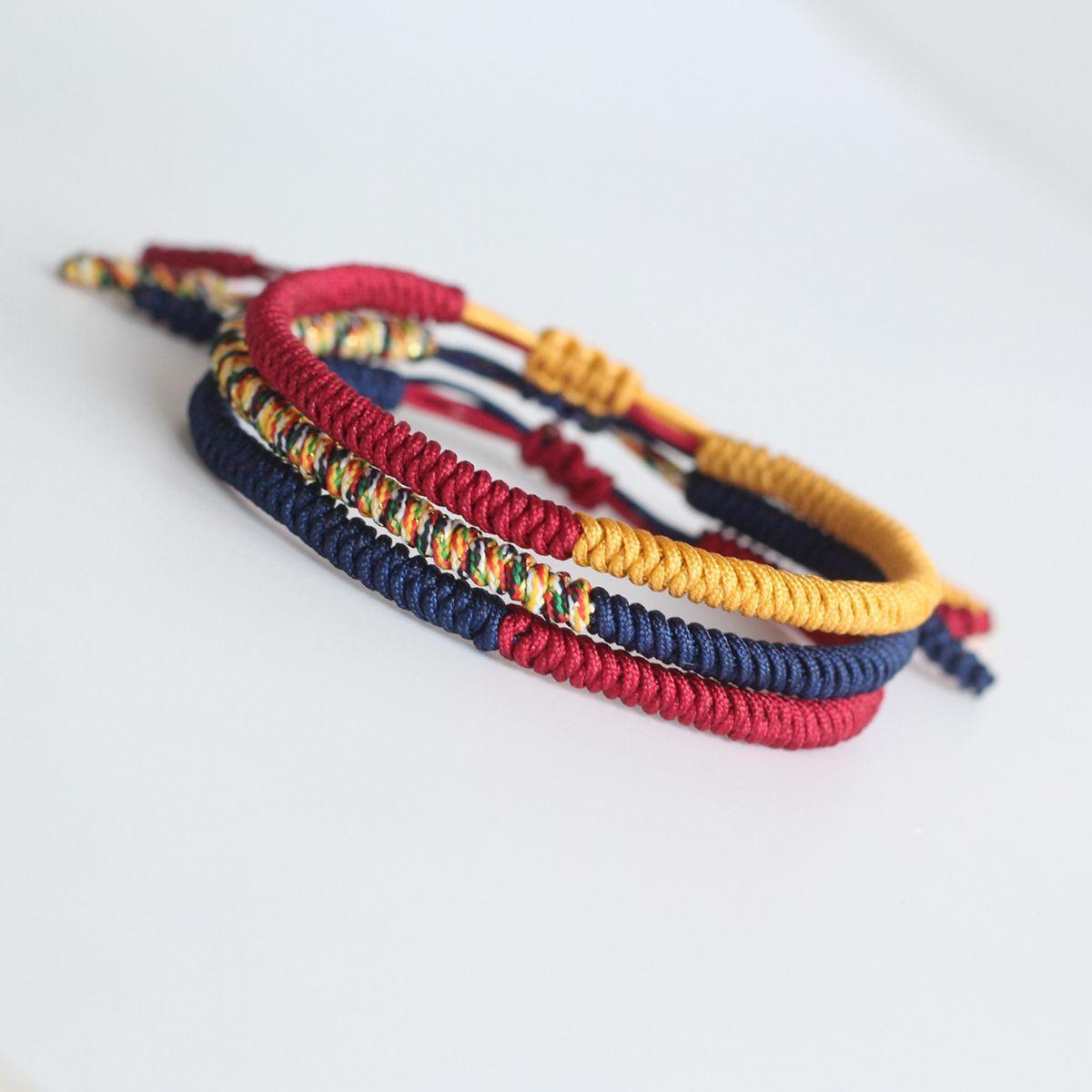 Unique Tibetan Buddhist Hand Weave Knots Lucky Bracelet Accessories