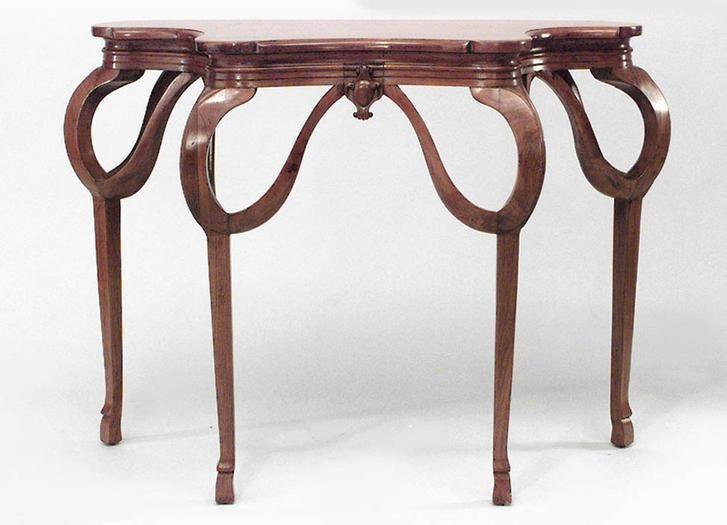 Art Nouveau Art Nouveau table console table walnut | Art Nouveau ...