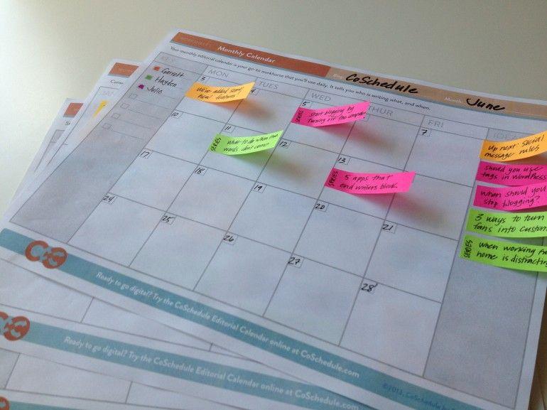 The Best  Content Calendar Template Get Organized All Year