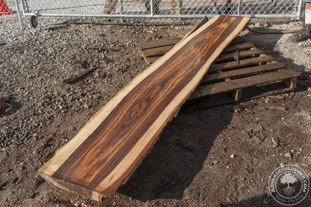11 16 2015 Beautiful Indian Rosewood Log Freshly Milled
