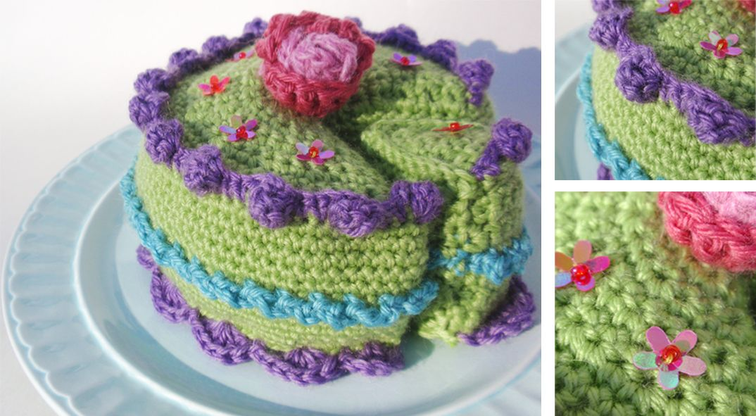 Crocheted in the round with lots of different yarns mainly wool