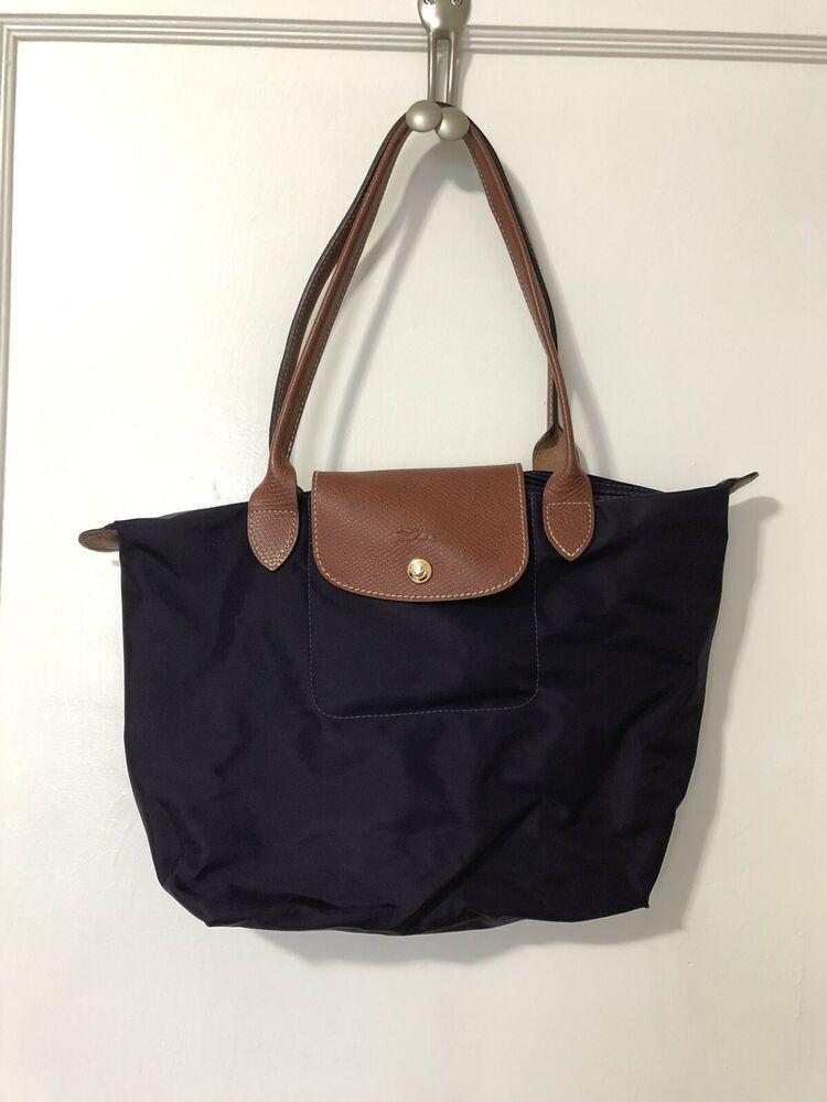 9af63798d386 Longchamp Le Pliage Medium Short Handle Type M Nylon Tote Dark Purple  #fashion #clothing #shoes #accessories #womensbagshandbags (ebay link)
