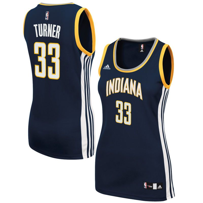 Myles Turner Indiana Pacers adidas Women's Road Replica Jersey - Navy