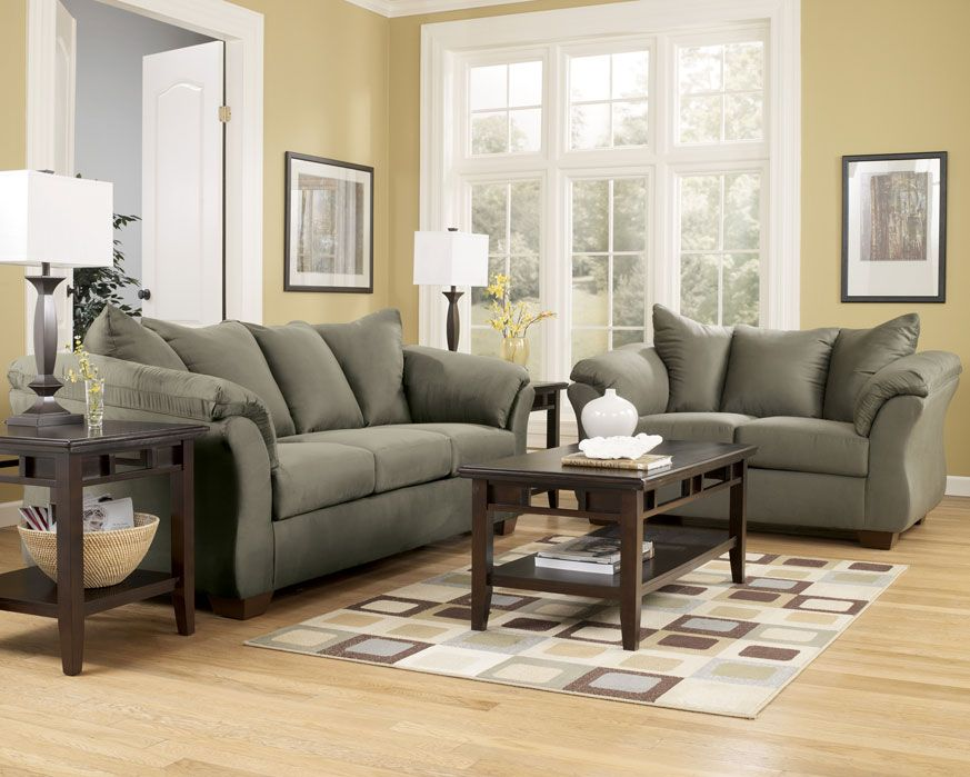 Attractive $769.99 Sofa U0026 Loveseat Set 75003 SL Darcy Sage, Furniture Factory Direct  Living Part 30