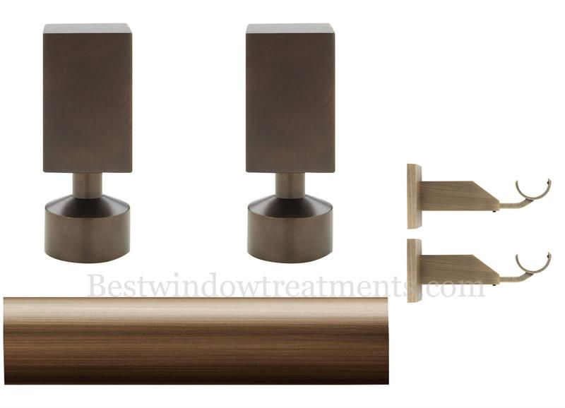 Select Empire 1 3 16 Custom Brass Curtain Rod Set