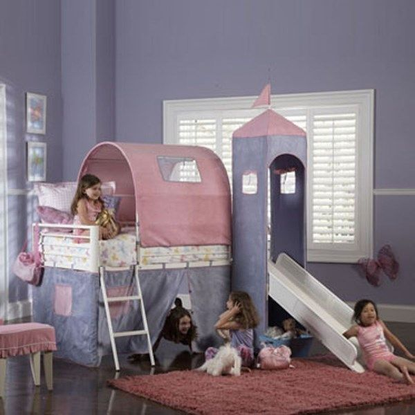 Powell Furniture Princess Twin Tent Bunk Bed Bunk Bed With Slide