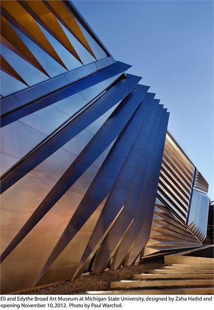 L'Eli and Edythe Broad Art Museum, progettato da Zaha Hadid per la Michigan State University