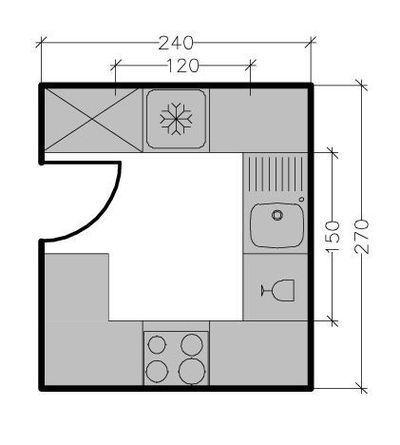 Petite cuisine tous les plans de petites cuisines jusqu 39 6 m id e deco appartement - Plan petite cuisine ouverte ...