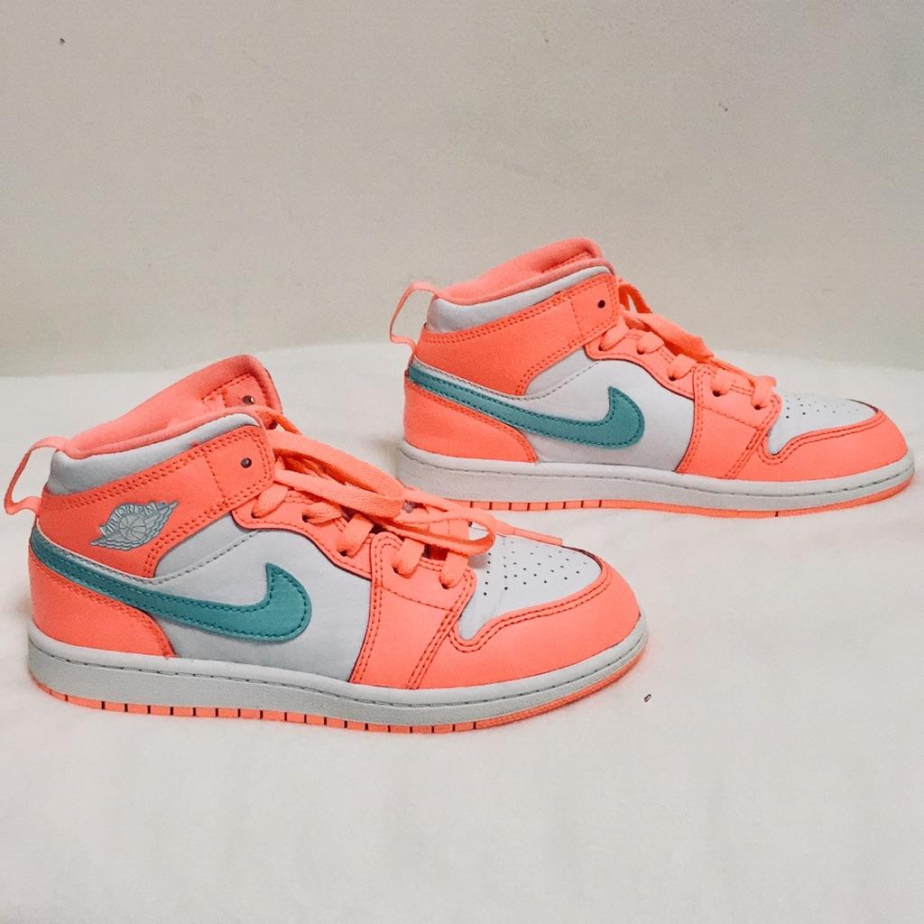 neon orange jordans