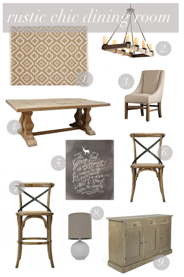 Rustic Chic Dining Room Inspiration   Megan Brooke Handmade Sharing Some Rustic  Chic Dining Room Inspiration And A Vision Board For Our Rustic Chic Dining  ...