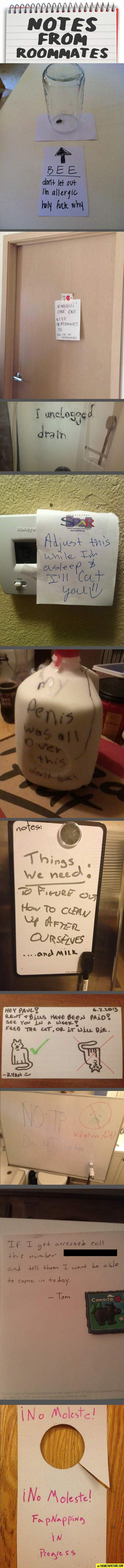 Notes from roommates... - The Meta Picture