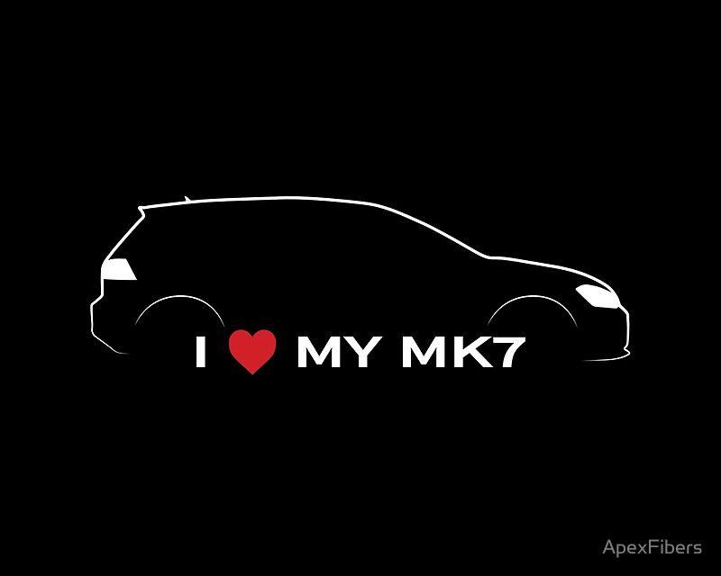 I Love My Volkswagen Golf Mk7 By Apexfibers Carros Rebaixados Desenho Desenhos De Carros Carros